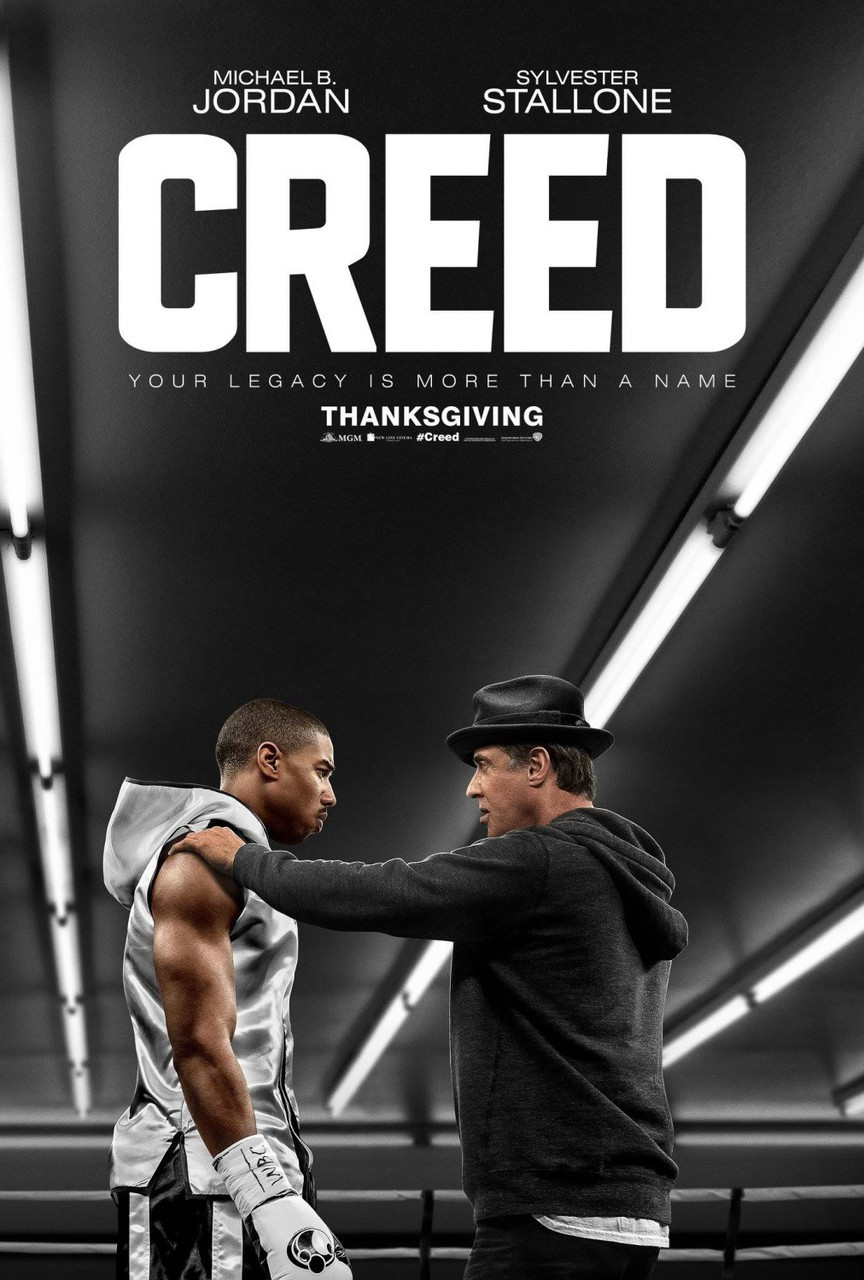 creed original movie poster double sided advance rocky