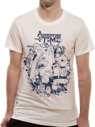 Adventure Time Character Group Ink Splat Official Unisex T-Shirt