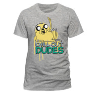 Adventure Time Jake The Dog Chill Out Dudes Quote Official Unisex T-Shirt