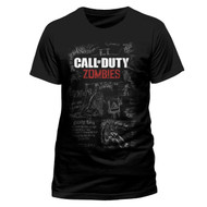 Call Of Duty Black Ops 3 Zombies Mob Of The Dead Official Unisex T-Shirt