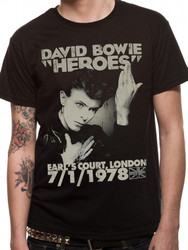 David Bowie Heroes Earls Court T-Shirt