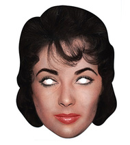 Elizabeth Taylor Celebrity Hollywood Card Party Face Mask