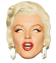 Marilyn Monroe Diamonds Celebrity Hollywood Card Party Face Mask