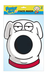 Brian The Dog Offical Family Guy Card Party Face Mask