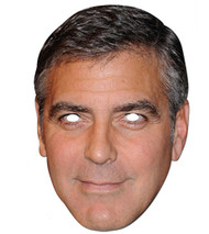 George Clooney Celebrity Card Party Face Mask