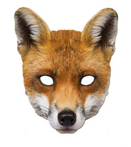 Fox Animal Card Party Face Mask