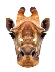 Giraffe Animal Card Party Face Mask