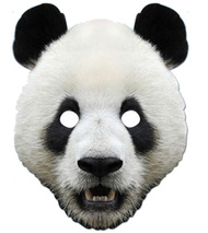 Panda Animal Card Party Face Mask