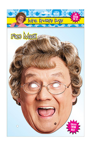 Agnes Brown Official Mrs Brown's Boys Card Party Face Mask