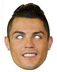 Cristiano Ronaldo Footballer Card Party Face Mask