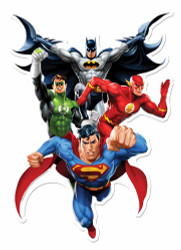 Justice League Heroes 3D Wall Art Cardboard Cutout