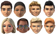 Thunderbirds Are Go Variety 8 Pack Card Party Face Masks