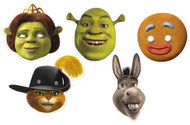 Shrek Variety Card Party Face Masks 5 Pack