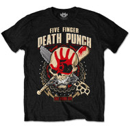 Five Finger Death Punch Zombie Kill Logo Black Official Unisex T Shirt