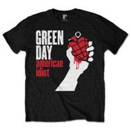 Green Day American Idiot Logo Black Official Unisex T Shirt