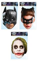 Batman Official 2D Card Face Masks Variety 3 Pack