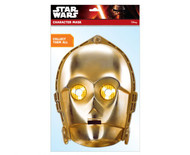C-3PO Star Wars 2D Card Party Face Mask