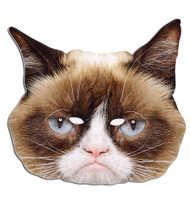 Grumpy Cat Card Party Face Mask