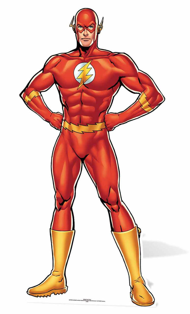 The flash comic style dc comics cardboard cutout standee