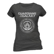 Guardians Of The Galaxy Vol. 2 Crest Ladies Fitted Official Grey T-Shirt