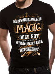 Harry Potter Magic Wands Official Unisex Black T-Shirt