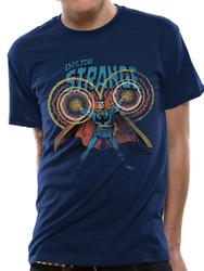 Doctor Strange Comic Style Official Marvel Blue Unisex T-Shirt