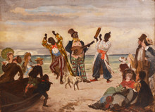 Beach Scene Minstrel Music