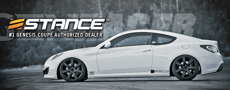 #1 Stance authorized dealer for the Genesis Coupe