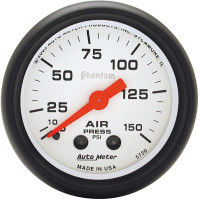 Auto Meter Phantom - Air Pressure Gauge: 0-150 PSI