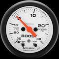 Auto Meter Phantom - Boost Gauge: 30 in Hg./ 30 PSI