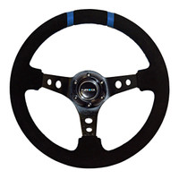 """NRG Innovations LIMITED EDITION 350MM SPORT SUEDE STEERING WHEEL (3"""" DEEP)"""