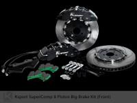 "Ksport Front SuperComp 16.5"" 8 Piston Big Brake Kit for 2010+ Genesis Coupe"