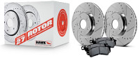 Hawk Performance - Sector 27 Rotor/Pad Kit for Genesis Coupe w/ Brembo 10-16