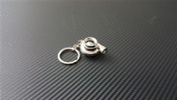 Spinning Turbocharger w/LED Silver Keychain