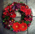 Sympathy Wreath - Modern Grouped - $90.00