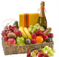 FRUIT, CHOCOLATES & WINE BASKET  -----  FROM $60.00