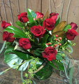 1 Dozen Red Rose Vase Arrangement