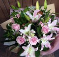 Rose & Lily Bouquet Pinks Deluxe