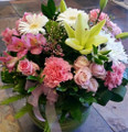 Fishbowl Arrangement Pink Tones Classic