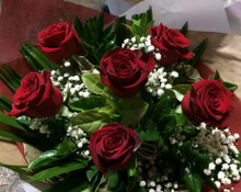 1/2 Dozen Rose Bouquet Red
