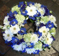 SYMPATHY WREATH - TRADITIONAL  --------- FROM $80.00