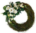 SYMPATHY WREATH - MODERN FOCAL               FROM $70.00