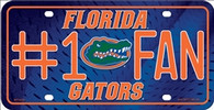 University of Florida Gators Fan Embossed Metal License Plate