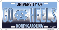 University of North Carolina Go Heels Embossed Metal License Plate