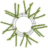 "10-20"" Small Pencil Work Wreath Form: Metallic Lime Green"