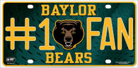 Baylor Bears Fan Metal License Plate