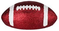 "11"" Glitter Football: Crimson/White"