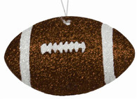 "4.5"" Glitter Football Ornament"