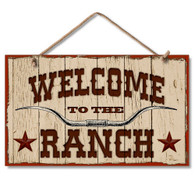 Welcome to the Ranch Sign