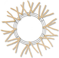 "20-30"" Pencil Work Wreath Form: Burlap"